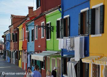 Les maisons toutes en couleur de Burano