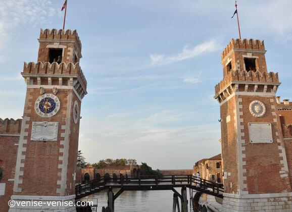 L'entrée principale de l'arsenale de Venise