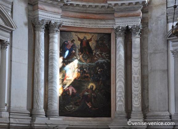 Tintoret a garni de ses ouvres la basilique san giorgio de maggiore