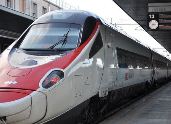 Un train en gare de Venise santa lucia