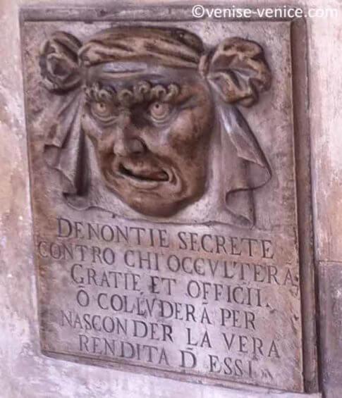 Bocca della verita,une boite aux lettres pour dénoncer les fraudes dans la république de Venise