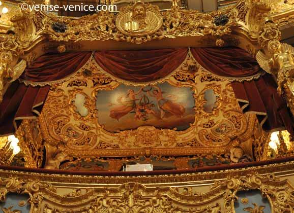 Les loges royales du gran teatro la fenice