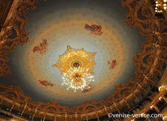 Le plafond de la Fenice à Venise