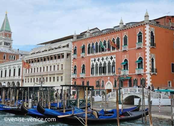 La façade de l'hôtel Danieli à Venise