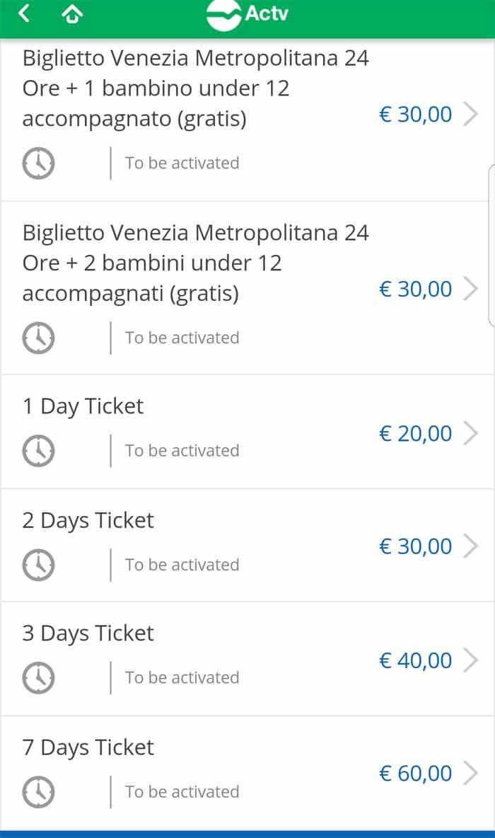 Acheter ses tickets de vaporetto en ligne avec l'appli ACTV