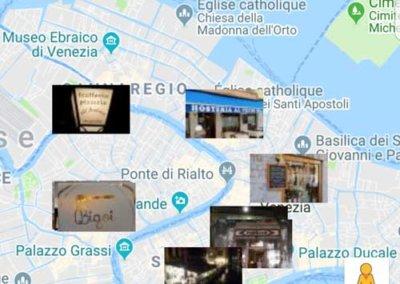 Appeler un restaurant pour reservez avec l'application venise app tour