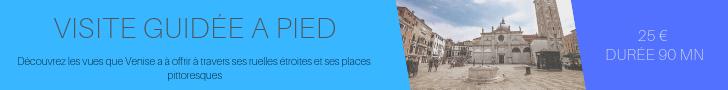 Offre de visite guidée le matin pour découvrir les ruelles et les campos de Venise