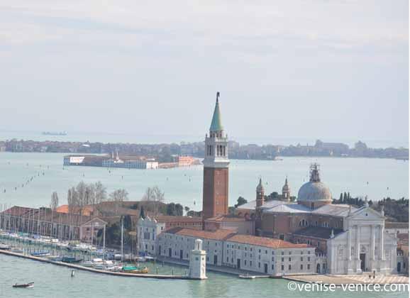 San Giorgio maggiore vue depuis le sommet du campanile de saint marc