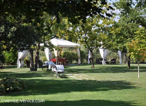 Les jardins de la villa 600 à Torcello